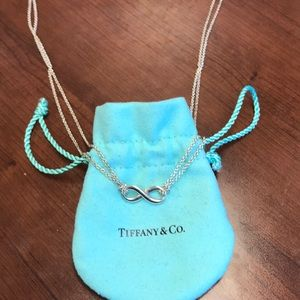 Tiffany & co infinity necklace. Like new!